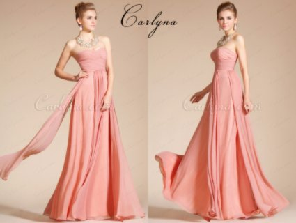 Carlyna Strapless Pleated Bridesmaid Dres