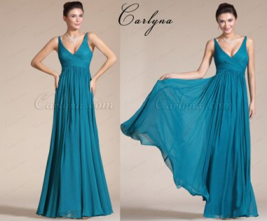 Carlyna Elegant V-cut Evening Dress Prom Ball Gown