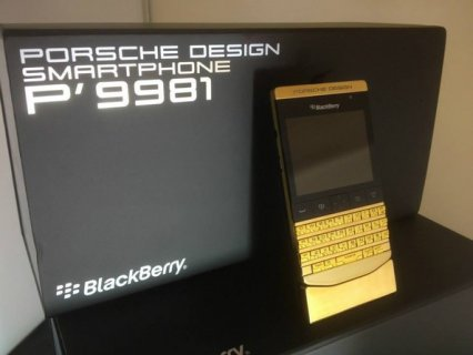 FOR SALE::BLACKBERRY POURSHE GOLD WITH SPECIAL PIN