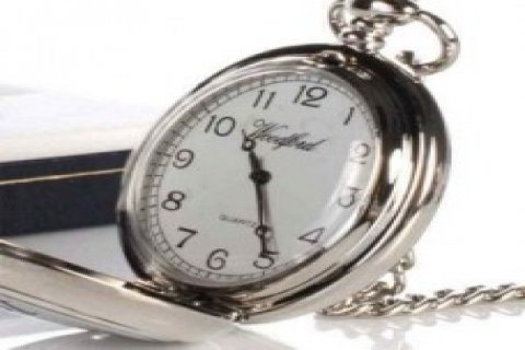 Ortime Hubert Stainless Steel Case Pocket Watch