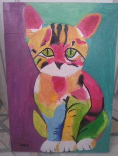 Cute Colorful Cat