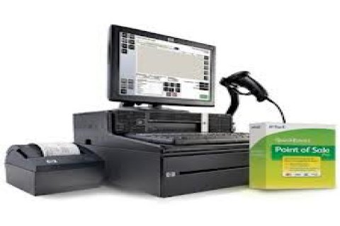 ماكينة كاشير كمبيوتر مع برنامج نقاط البيع