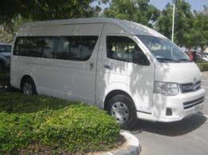 مطلوب سيارات تويوتا سقف عالى موديل 2011/2012/2013 بدون سائق