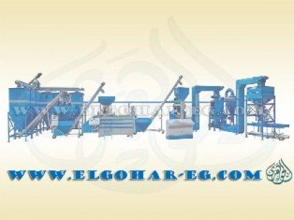 مصنع علف يسهل فكه و نقله و تركيبه