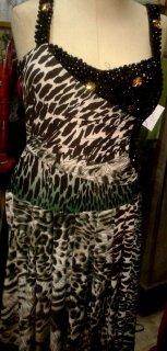 فستان اسود تايجر