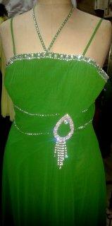 فستان اخضر