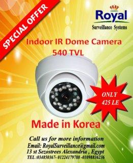 تخفيضات خاصة جدا على كاميرات المراقبة الكورية الداخلية 540 TVL