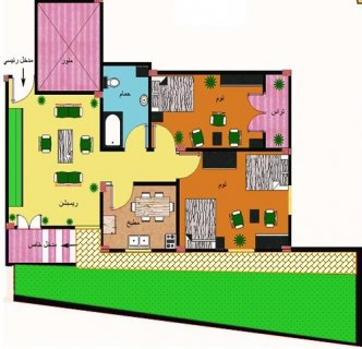 شقة سكنية فاخرة بمدينة السادات102م وحديقة42م بسعر مغري 191 الف ج