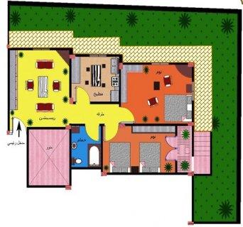 شقة سكنية فاخرة بمدينة السادات97م وحديقة73م بسعر مغري 206 الف ج