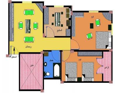 شقة متميزة فاخرة بمدينة السادات بأرقي حي93م بسعر مغري158الف جنيه