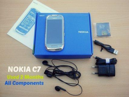 Nokia C7 جديد بالضمان من راية البدل بجرو جيرمن تقليب عالى