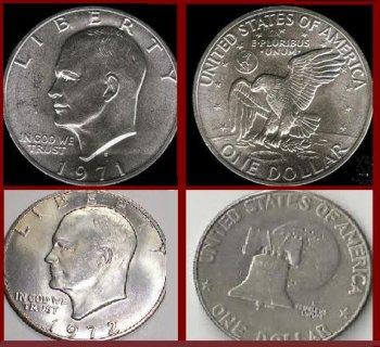 لهواة العملات النادرة 2 دولار أيزنهور بأصدارين مختلفين