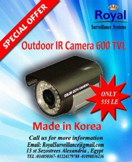 تخفيضات على كاميرات المراقبة الكورية الخارجية  600 TVL
