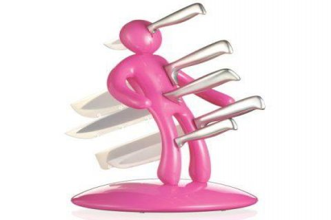 حامل السكاكين على شكل رجل
