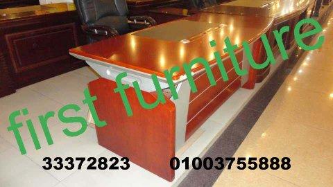 مكاتب خشب طبيعي كوانترات ميتال خلايا عمل زجاج اثاث شركات فرست