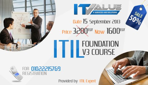 ITIL v3 Foundation : Dont miss your Discount