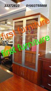 مكتبات وخزانات خشبية متنوعة للملفات، شانونات، أثاث مكتبي متكامل