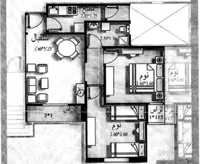 للبيع شقة بمدينة العاشر من رمضان