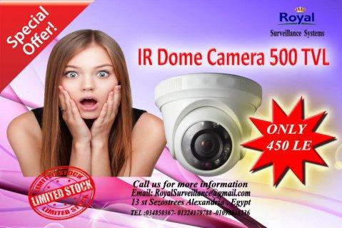 عرض خاص لكاميرات مراقبة 500TVL  ذات رؤية ليلية