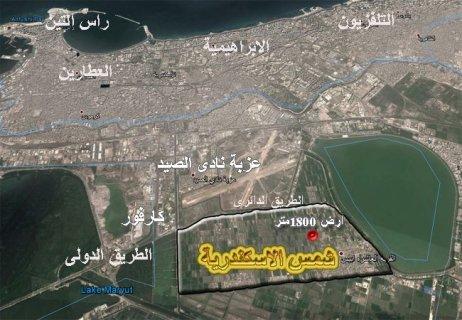 ارض للبيع بالاسكندرية 1800 متر على ثلاث شوارع شركة صن الكس