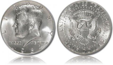 للبيع نصف دولار امريكى فضه 1964