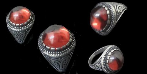 للبيع خاتم قديم  ونادر من الياقوت النارى , القذوينى ,
