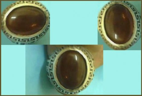 لهواة النفيس  للبيع خاتم  قديم ونادر من حجر البيروب السنغالى