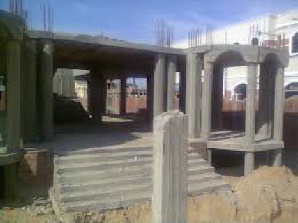 ارض للبيع بالبنفسج فيلات مساحه610متر مبنى بها اساسات البدروم نضا