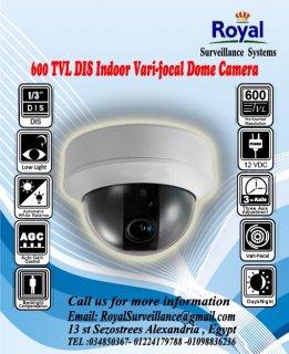 كاميرات المراقبة الداخلية 600 TVL تتميز بوجود Vari-focal Lens