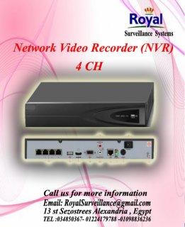 أحدث أجهزة التسجيل   Network Video Recorder (NVR)  4CH