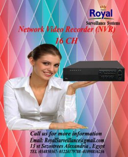 أحدث أجهزة التسجيل   Network Video Recorder (NVR)  16CH
