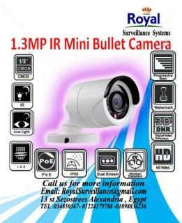 أحدث كاميرات المراقبة IP 1.3 megapixel