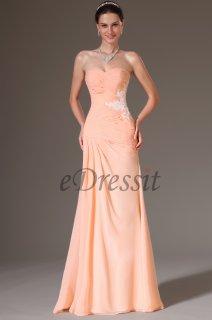 فستان السهرة البسيط العاري الكتف للبيعeDressit