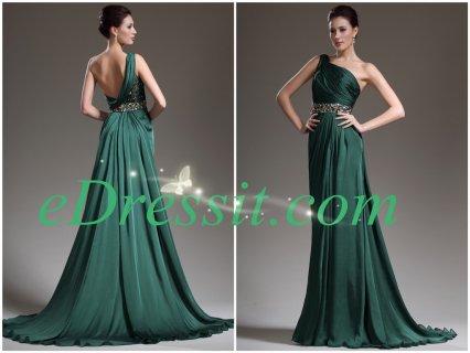 فستان السهرة الأخضر الأنيق للبيعeDressit