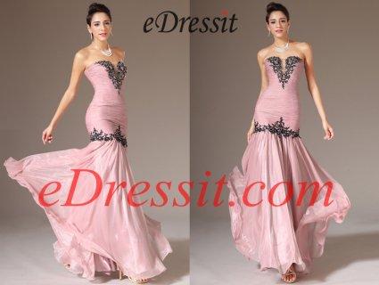 فستان السهرة الوردي eDressit