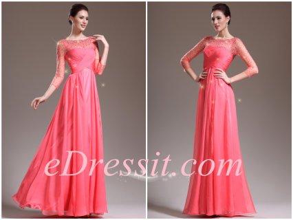 eDressit 2013فستان ظريف جديد لأم العروس بأكمام وخرزات