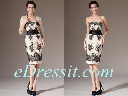 eDressit 2014 فستان الدانتيل الشامباتيا الرسمي الجديد بسترة