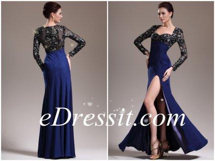eDressit فستان ساحر جديد لأم العروس بأكمام الدانتيل