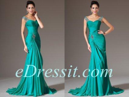 فستان السهرة الأخضر الرسمي للبيعeDressit