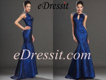 فستان السهرة الأزرق الياقوتي للبيعeDressit