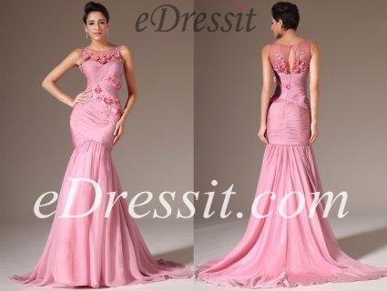 فستان السهرة الوردي للبيعeDressit
