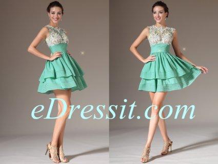 فستان الكوكتيل أو الحفلة الأخضر الفاتح للبيعeDressit