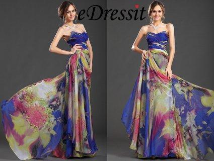 فستان السهرة بطباعة الأزهرeDressit