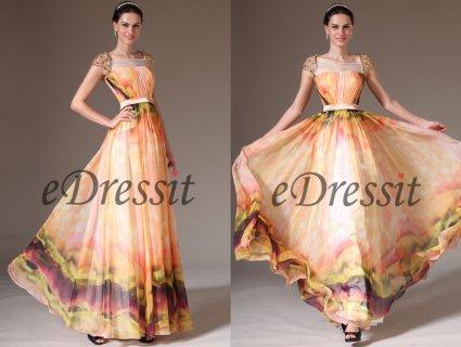 00143068فستان السهرة بطباعة الأزهار للبيعeDressit