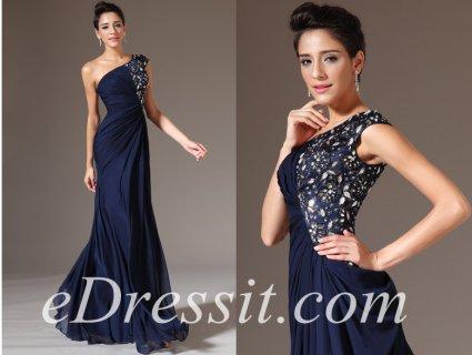 فستان السهرة الأزرق القاتم للبيعeDressit