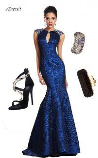 فستان السهرة الأزرق الياقوتي للبيع eDressit
