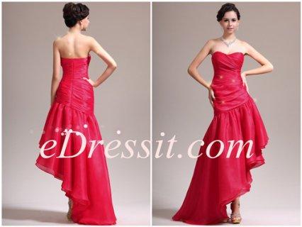 eDressit  فستان السهرة الأحمر الظريف الجديد