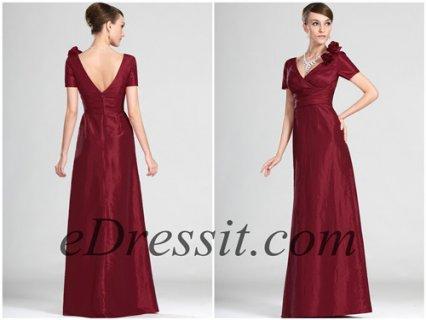 eDressit فستان أنيق بأكمام قصيرة