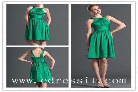 eDressit فستان الكوكتيل الأخضر الحبيب برباط العنق