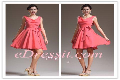 eDressit فستان الكوكتيل الظريف الجديد بلا أكمام